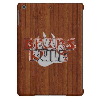 Wood Pattern Gay Bear Bears Rule Silver Paw iPad Air Covers