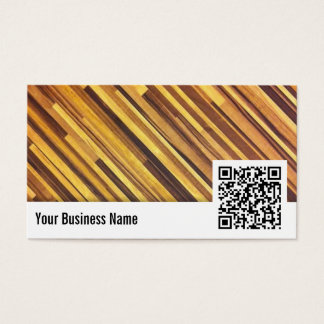 Wood Stripes QR Code Accountant Business Card