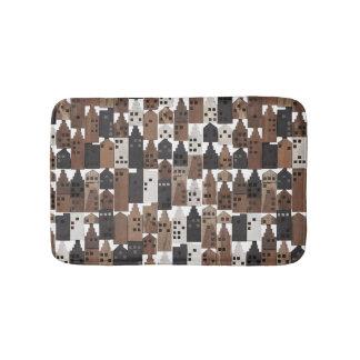Wood village bathroom rug mat bath mats