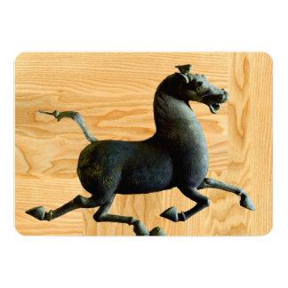 Wood Year of the Horse  Custom Invitation