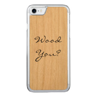 Wood You? Carved iPhone 7 Case