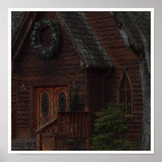 """Woodcut"" Church Poster"