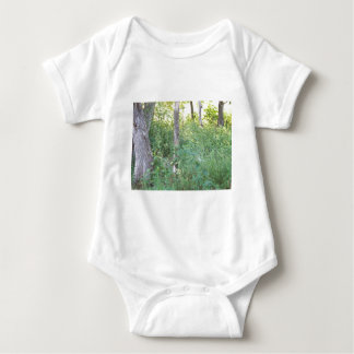 wooded area baby bodysuit