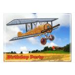 Wooden Biplane Over Fields Birthday Invitation 13 Cm X 18 Cm Invitation Card