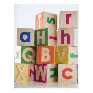Wooden blocks postcard