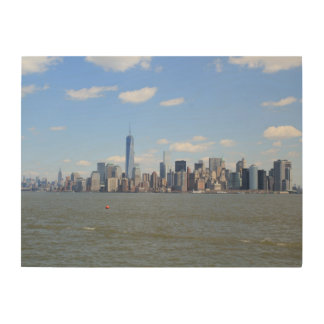 Wooden Canvas Of View Over New York Wood Prints