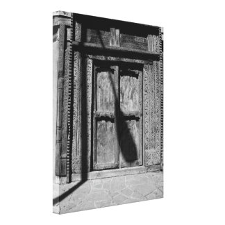 Wooden doors in Santa Fe Stretched Canvas Prints