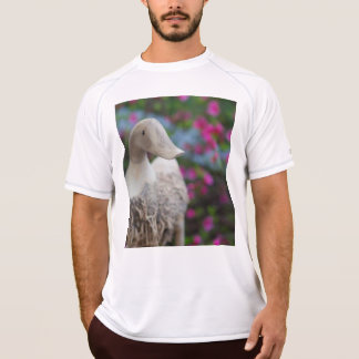 Wooden duck head with flowers T-Shirt