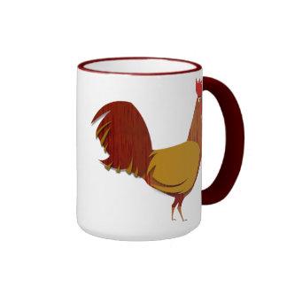 Wooden Rooster Ringer Coffee Mug