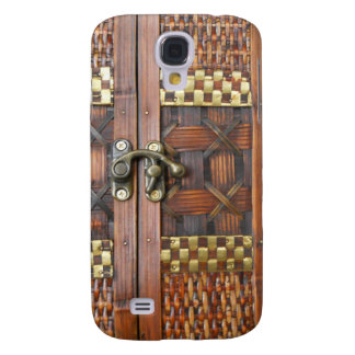 Wooden Texture with Metal Latch Galaxy S4 Case