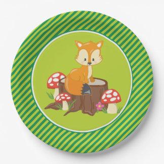 Woodland Animals | Fox Paper Plate