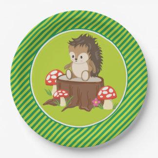 Woodland Animals | Hedgehog Paper Plate