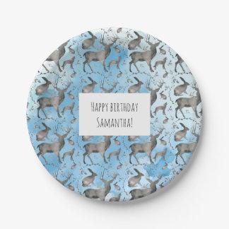 Woodland Animals Paper Plate