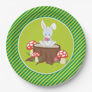 Woodland Animals | Rabbit Paper Plate
