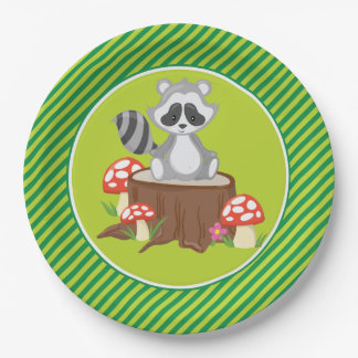 Woodland Animals | Racoon Paper Plate