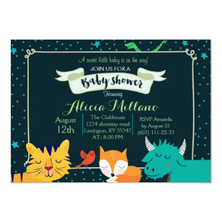 Woodland Baby Shower - Over the Moon Starry Night Card