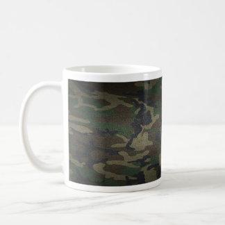 Woodland Camo Fabric Coffee Mug