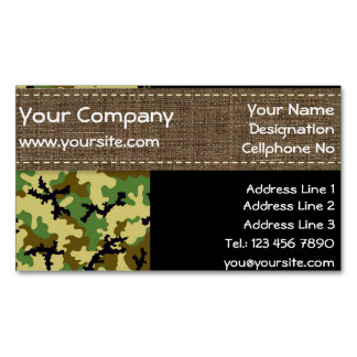 Woodland camouflage magnetic business card