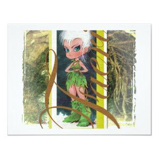 Woodland Faerie 11 Cm X 14 Cm Invitation Card