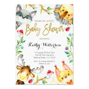 Baby shower invitations zazzle woodland forest baby shower invitation filmwisefo
