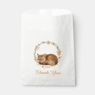 Woodland Fox Baby Shower Favour Bags