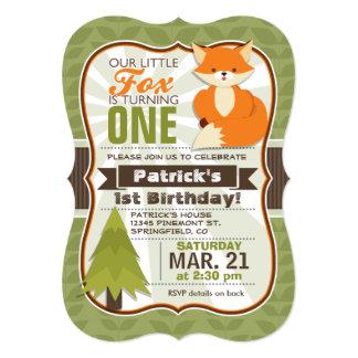 Woodland Fox Birthday Party Invitation
