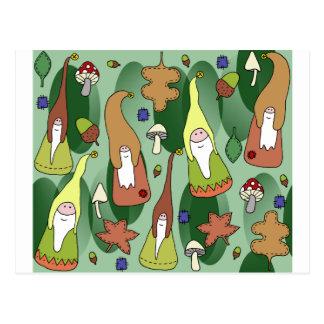 Woodland Gnomes Postcard
