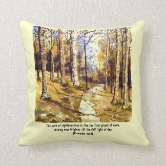 'Woodland Path (Christian)' Pillow