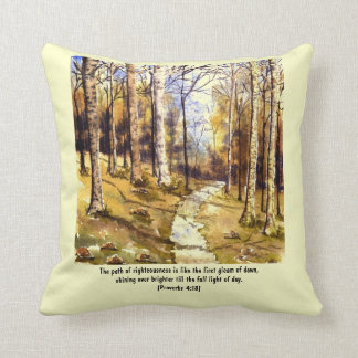 'Woodland Path (Christian)' Pillow