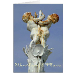 Woodruff Place Fountain, Indianapolis, Indiana Card