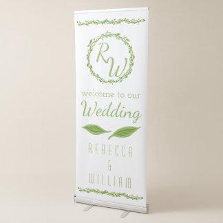 Woodsy Elegance | Wedding Vine Woodland Welcome Retractable Banner