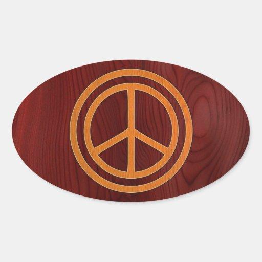 Woody Peace II Oval Stickers