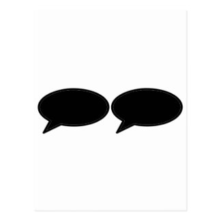 Word Bubble 2 Left Black The MUSEUM Zazzle Gifts Post Cards