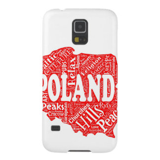 Word cloud with Polish terms in a shape of Poland Case For Galaxy S5