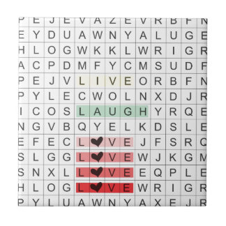 Word Search Love Tile