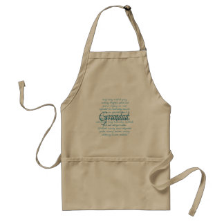 Words for Grandad Standard Apron