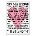 Words of encouragement get well or cancer card