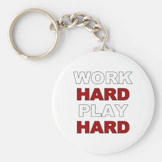 Work Hard.png Basic Round Button Key Ring