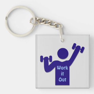 Work it out keychain