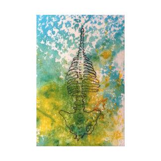 Work on fabric - Back Canvas Print