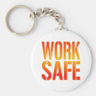 Work Safe Basic Round Button Key Ring