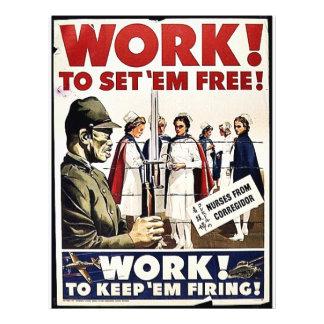 Work To Set 'Em Free Custom Flyer