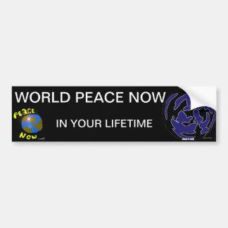 WORKD PEACE BUMPER STICKER