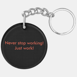 Worker 18 Keychain! Double-Sided Round Acrylic Key Ring