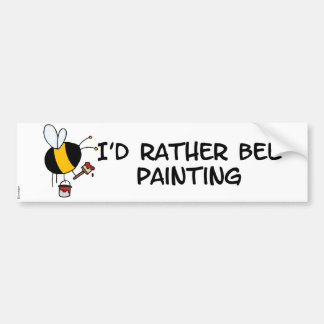 worker bee - painter bumper sticker