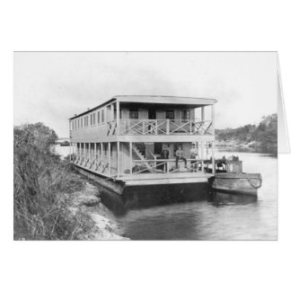 Workers Houseboat, Florida Everglades, 1920s Card