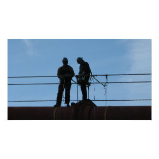 Workers on the Golden Gate Bridge - San Francisco, Print