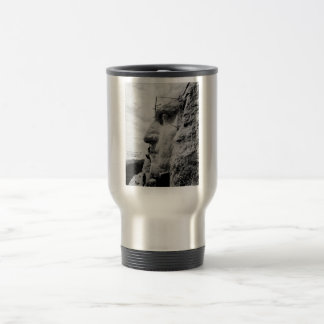 Workmen on George Washington Face Mount Rushmore Travel Mug