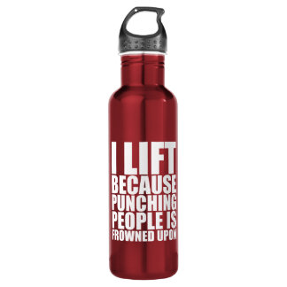 Workout Humour - I Lift Punching Is Frowned Upon 710 Ml Water Bottle