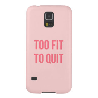 Workout Motivational Quote Too Fit Hot Pink Cases For Galaxy S5